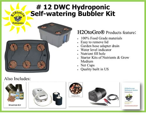 # 12 Self-Watering Bubbler Hydroponic kit