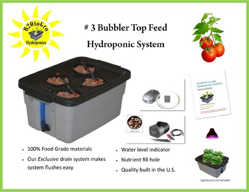 # 03 Self-watering Bubbler Hydroponic Kit