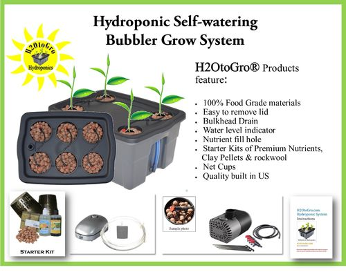 # 04 DWC Self-watering Bubbler Hydroponic Kit